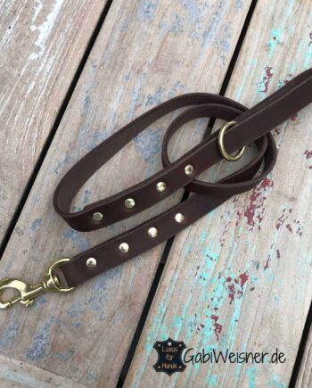 Hundeleine mit Handschlaufe, bis 3 m wählbar, Leder 25 mm EXTRA breit