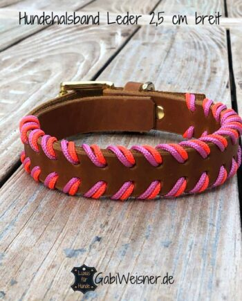 Hundehalsband Neon Orange