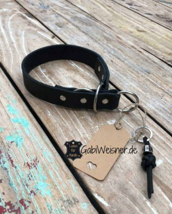 Sofort lieferbar Zugstopp Halsband. Leder 3cm breit. 44 cm Kopfumfang, 40 cm Halsumfang