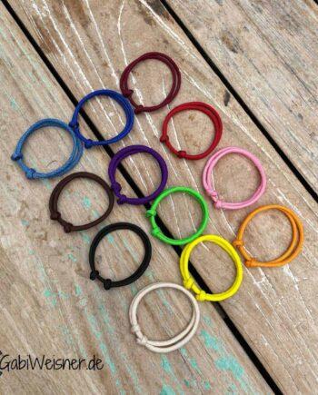 Welpen Markierungsband mit Schiebeknoten verstellbar. Paracord mit 4 mm Ø in 12 Farben.In verschiedenen Größen wählbar.