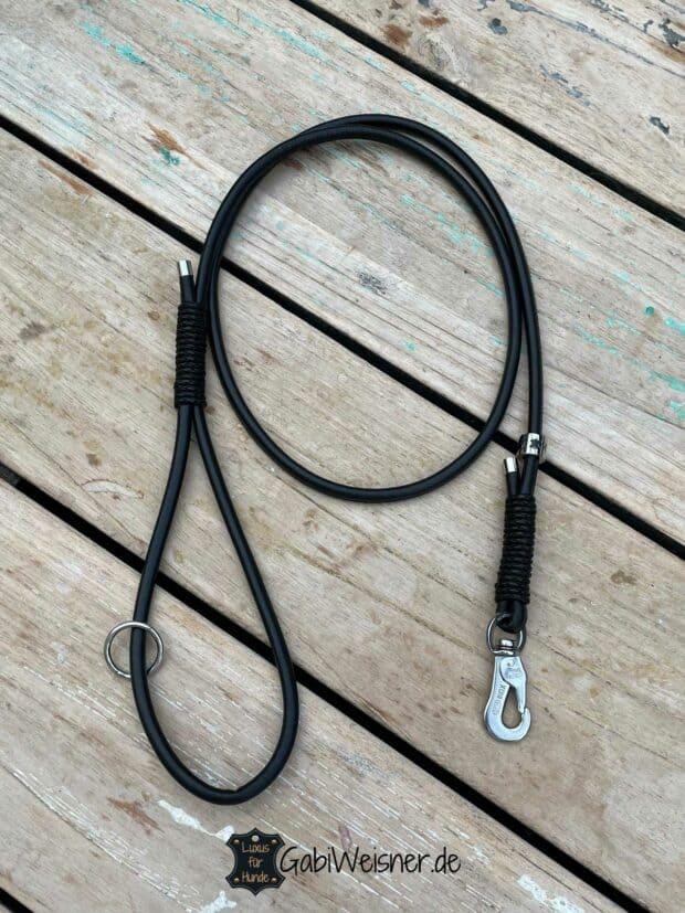 Hundeleine mit Handschlaufe, Leder 6 mm rund, kleine Hunderassen, 7 Farben