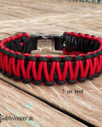 Hundehalsband mit Klickverschluss für mittelgroße Hunde.