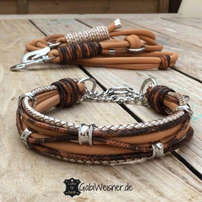 Halsband-und-Leine-Mandel-SET