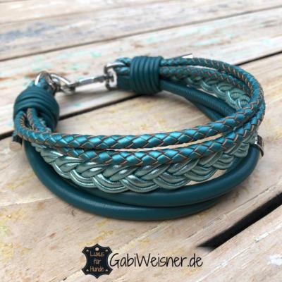 Hundehalsband-5-cm-breit-Petrol