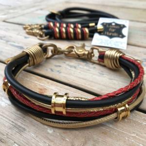 Hundehalsband-Deutschland-Gold-Glitzer-1