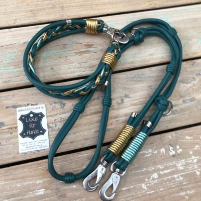 Hundehalsband-Leder-Hundeleine-petrol-tuerkis-1