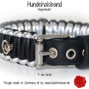 Hundehalsband-Lederhalsband-Nappaleder-3-cm-breit-4