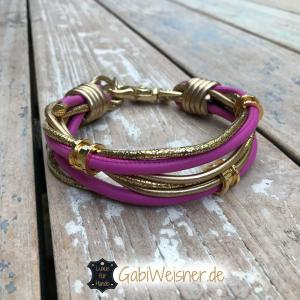 Hundehalsband-Pink-Gold-Ohr-Tunnel-1