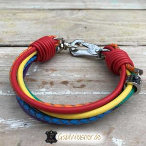 Hundehalsband-Regenbogen-3-cm-breit-Leder-7-Farben-Luxus-kleine-Hunde-Made-with-Love-in-Germany-2
