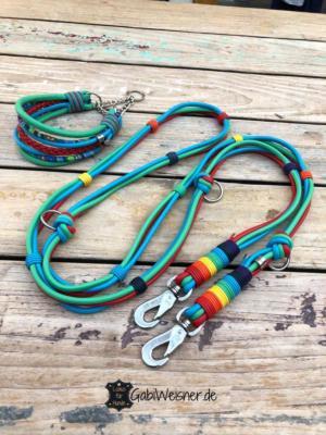 Hundehalsband-SET-Regenbogen