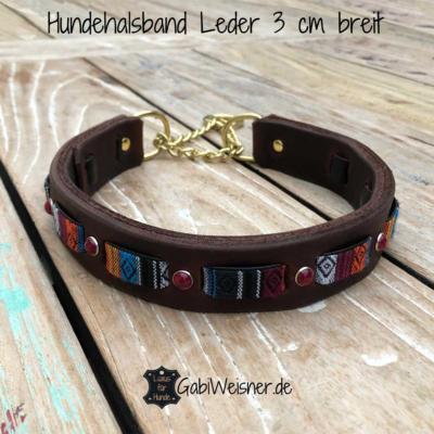 Hundehalsband-Zugstopp-Leder-3-cm-breit