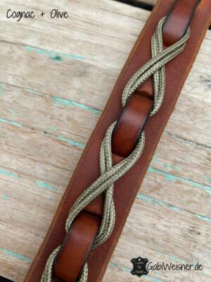 Hundehalsband aus Leder, 25 mm breit,