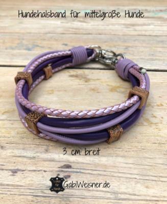 Hundehalsband-für-mittelgroße-Hunde-lila-flieder
