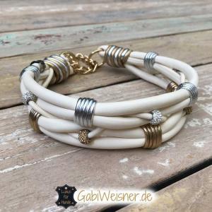 Hundehalsband-hochzeit-Elfenbein-Gold-Silber-1