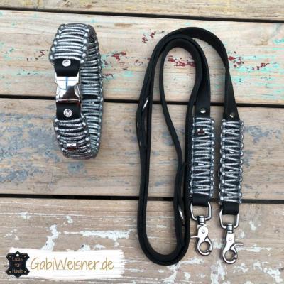 Hundehalsband-leine-silber glitzer strass swarovski 1