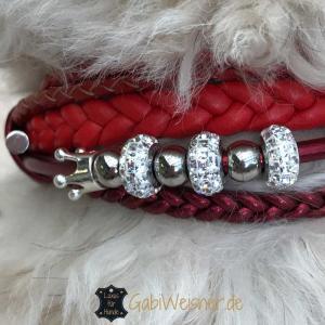 Hundehalsband-mit-Swarovski-Kristallen-Leder-in-Rot-10