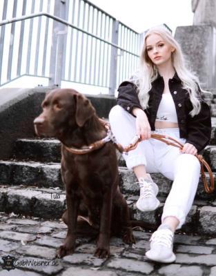 Hundehalsband Leder OhrTunnel Tula Celina 3