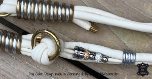 Hundeleine-hochzeit-Elfenbein-Gold-Silber-1