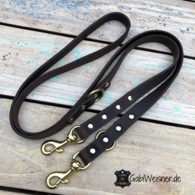 Hundeleine-mit-Messing-Beschlag-Leder-2-cm-breit-braun