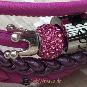 Mini-Hundehalsband-Luxus-Pink-Rosa-Krone-Strass-2