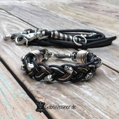 Mini-Hundehalsband-SET-dekoriert-mit-Skull-1