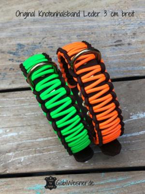 Original-Knotenhalsband-Leder-3-cm-breit-Neon-grün (1)