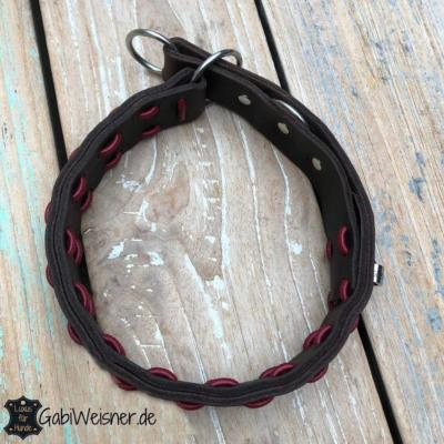 Zugstopp-Hundehalsband-Leder-4-cm-breit-für-große-Hunde-braun-rot