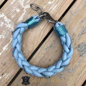 hundehalsband-hellblau-metallic-2