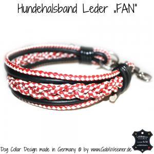 Lederhalsband FAN