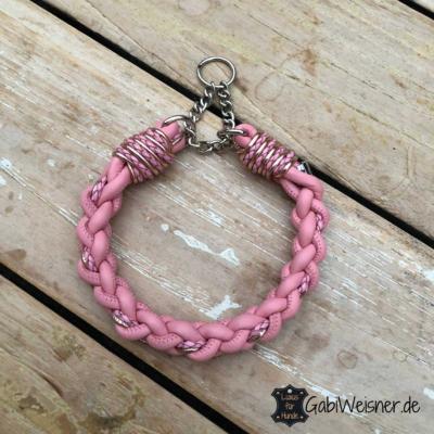 hundehalsband-leder-rund-rosa-2