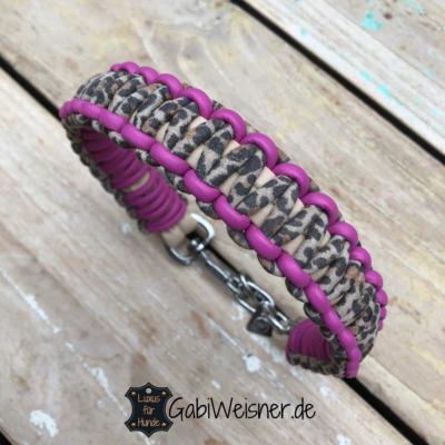 hundehalsband leo-pink